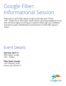 Have questions for Google Fiber?  This is your opportunity get them answered.